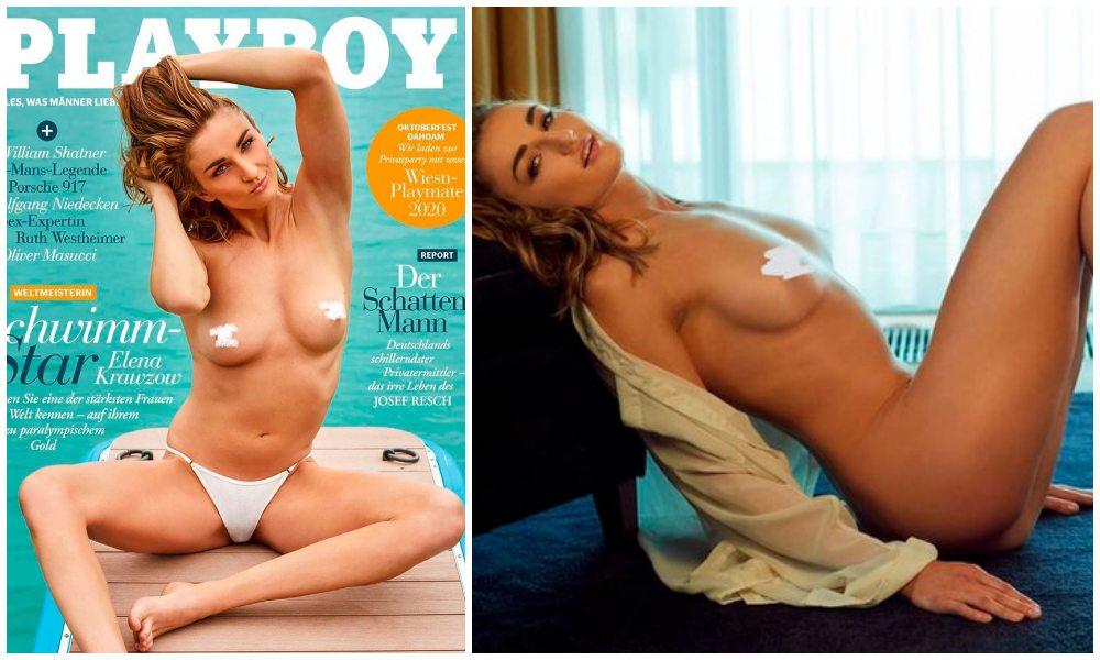 """Elena Krawzow, primera atleta paralímpica en posar desnuda en Playboy: """"Quiero dar un ejemplo de tolerancia a la sociedad"""
