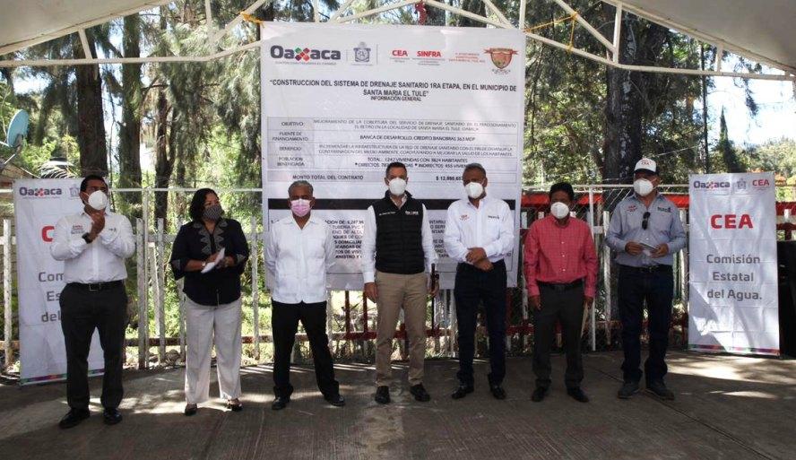 Construye Gobierno de Oaxaca mejores condiciones sanitarias en Santa María del Tule