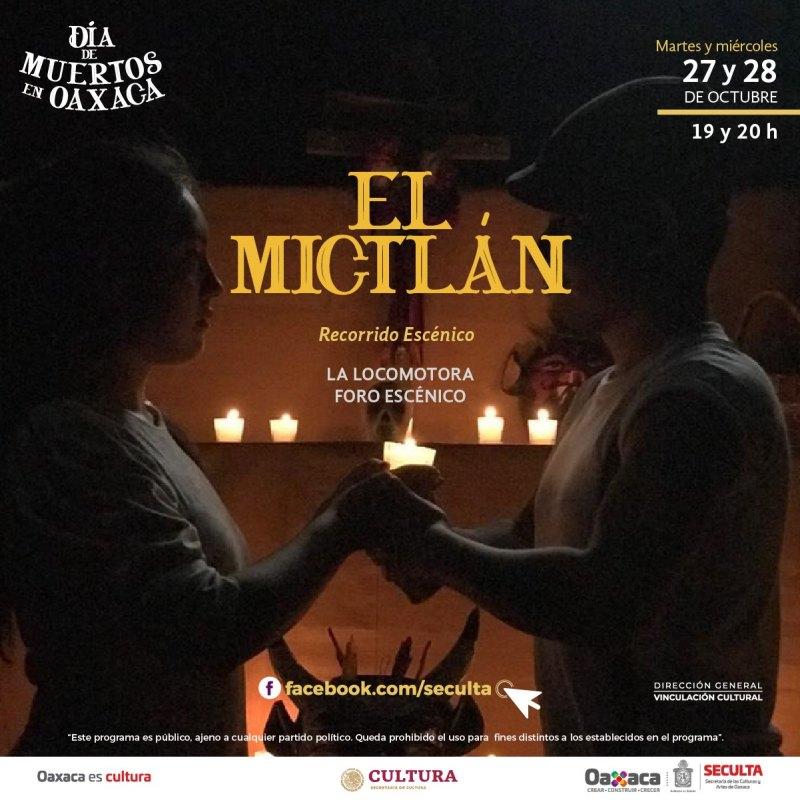 La Seculta y La Locomotora Foro Escénico invitan a un recorrido por El Mictlán
