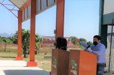 Inaugura Director del CECyTEO domo y piso de cancha de usos múltiples del Plantel 33 Chahuites