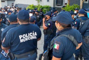 Policías de Salina Cruz, Oaxaca cumplen 10 días de paro de labores por falta de pago de aguinaldo de 45 días
