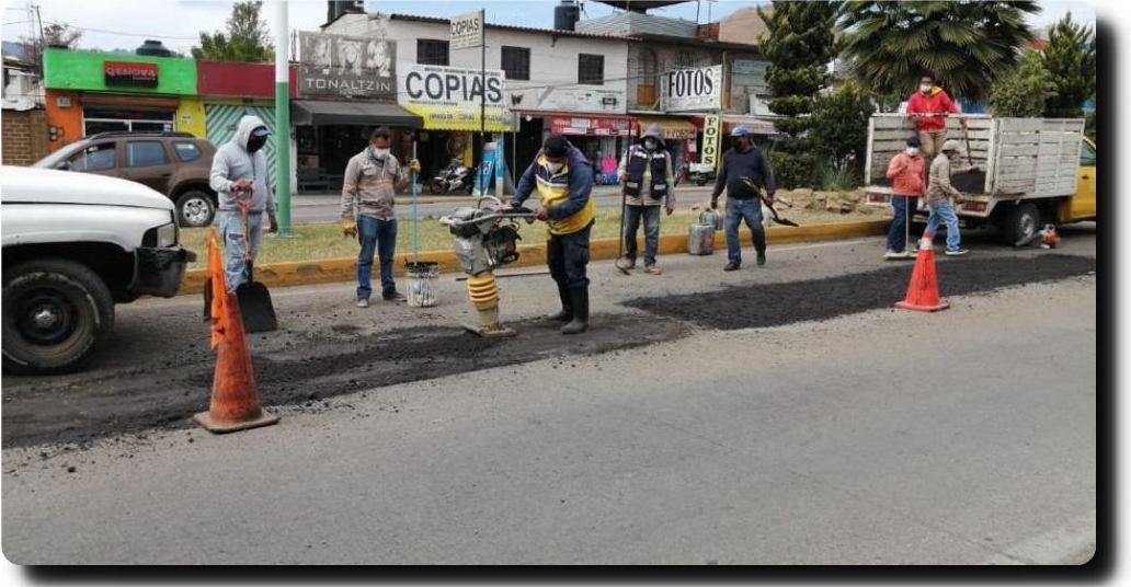 Inicia Programa Municipal de Bacheo 2021 en Xoxocotlán