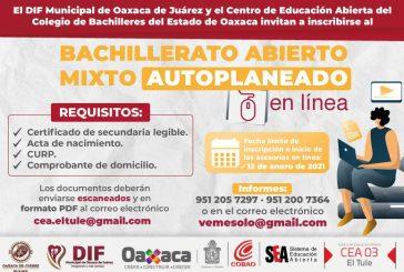 DIF Municipal de Oaxaca de Juárez y COBAO te invitan a iniciar o continuar tu educación media superior