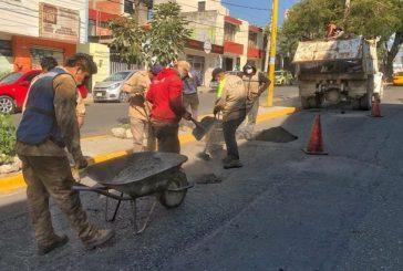 En el 2020, Ayuntamiento de Oaxaca de Juárez bacheó 9,398 metros cuadrados en vialidades