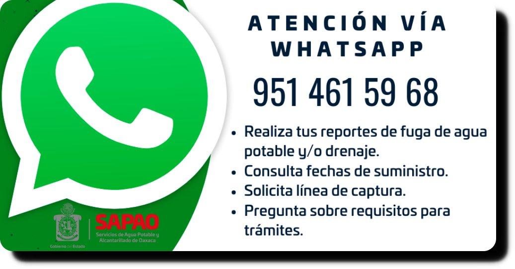 Brinda SAPAO atención a usuarios vía WhatsApp