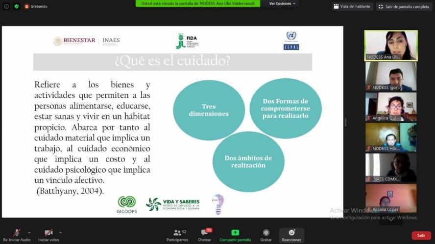 Economía del cuidado para la construcción de la igualdad sustantiva: SMO