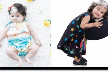 ¡Bellísima! Mayah la bebé con el pelo bicolor que causa furor en redes