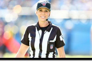 Sarah Thomas hará historia el 7 de febrero al ser la primera mujer árbitro en estar en un Super Bowl