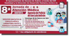 Invita el Ayuntamiento de Oaxaca a la Octava Jornada de Atención Médica Gratuita en San Luis Beltrán