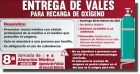 Ayuntamiento de Oaxaca entregará vales para la recarga de oxígeno, en San Luis Beltrán