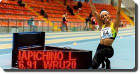 Larissa Iapichino bate récord mundial de salto largo