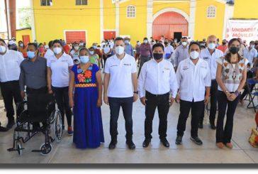 Santa María y San Miguel Chimalapa reciben apoyos en Salud y asistencia social