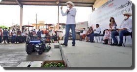 Entrega Murat apoyos al campo, sector social, seguridad y supervisa obras de infraestructura hídrica en Tuxtepec