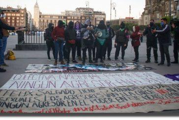 Mexicanas entonan 'Un violador en tu camino' para frenar candidatura de Salgado Macedonio