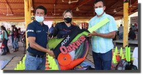 Entrega Incude Oaxaca material deportivo a 11 municipios y 22 entrenadores del Istmo
