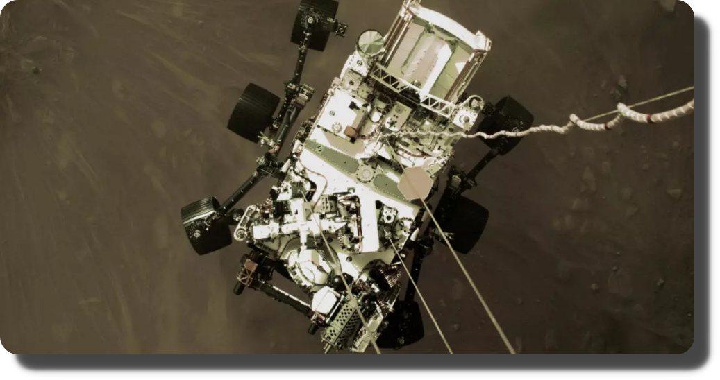 Divulgan primer video de llegada a Marte