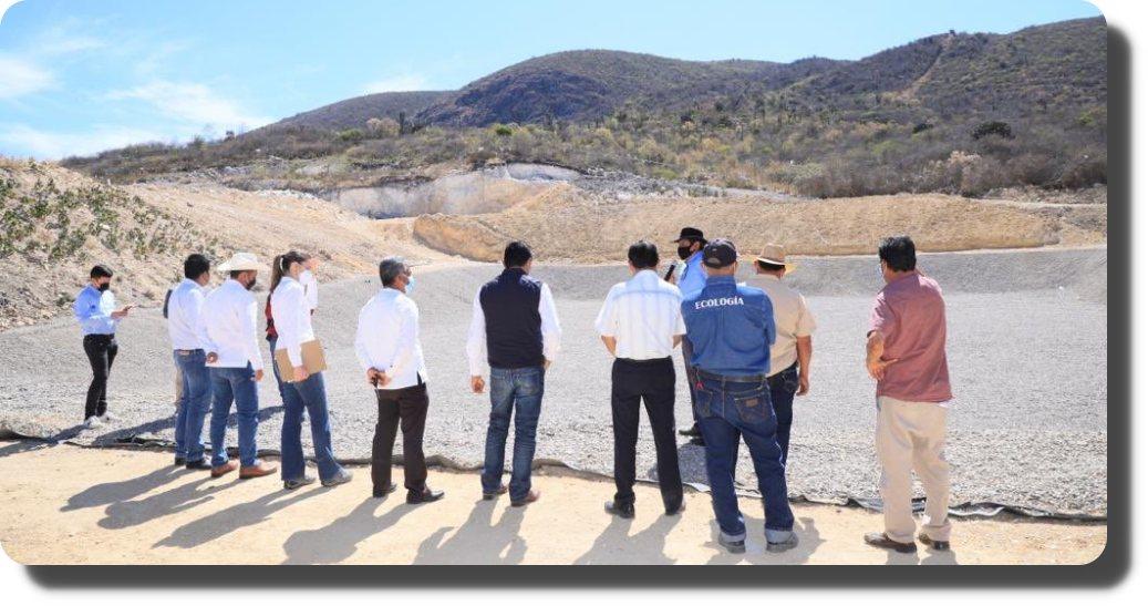 Supervisa Semaedeso obras de ampliación del relleno sanitario en Santa María del Tule
