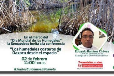 Invita Semaedeso a la conferencia virtual sobre los humedales costeros de Oaxaca