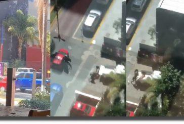 VIDEO: Balacera afuera de un restaurante en Zapopan, Jalisco; hay al menos 4 heridos