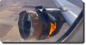 Motor de avión se incendia en pleno vuelo; pasajeros graban momento