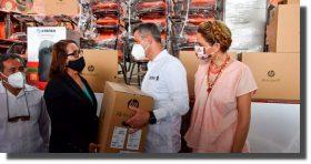 Entrega IEEPO mobiliario y equipo a 45 escuelas del Istmo