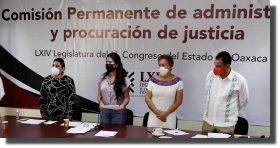 Comparecen aspirantes a integrar tribunales Superior y de Justicia Administrativa de Oaxaca