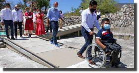 Oaxaca se pone a la vanguardia en materia de accesibilidad social y turística, con Mitla Incluyente