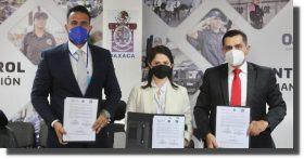 Singan convenio SSP Oaxaca y Fiscalía Especializada en Materia de Combate a la Corrupción