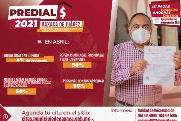 En abril, Ayuntamiento de Oaxaca ofrece descuentos en contribuciones municipales