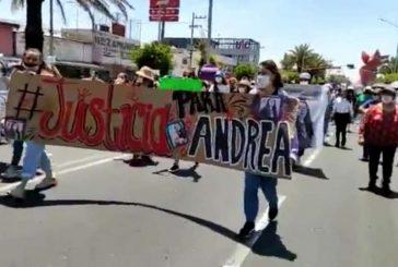 Mujeres marchan para exigir justicia por feminicidio de Andrea Salgado