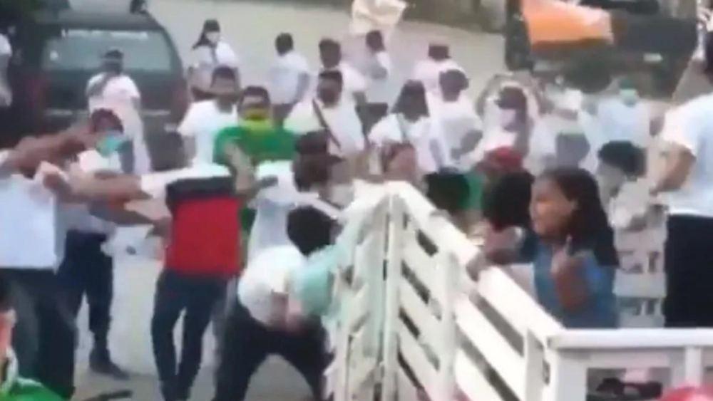 """VIDEO: """"A guamazos"""" comienzan campañas políticas entre el PVEM y MC en Jalisco"""