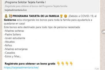 "¿Te ha llegado mensaje del ""Programa Tarjeta de la Familia"" vía WhatsApp? No caigas, es un fraude"