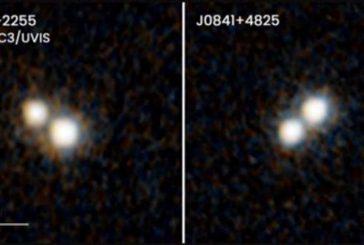 Detectan una rareza cósmica: dos cuásares dobles en galaxias en fusión