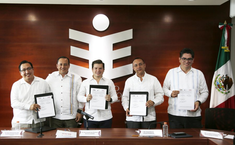 IEEPCO, INE e INJEO firman convenio para promover participación de la juventud oaxaqueña
