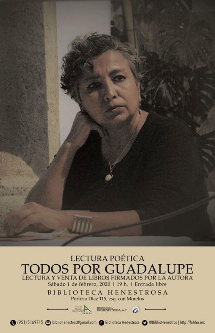 La Biblioteca Henestrosa te invita a la lectura poética «Todos por Guadalupe»