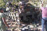 5 militares muertos tras volcadura de un vehículo de la Guardia Nacional en Oaxaca