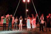 En la Plaza de la Danza se presentó el espectáculo ¨Circo Bio-Loco¨, con el que se visibilizan las implicaciones del maíz transgénico