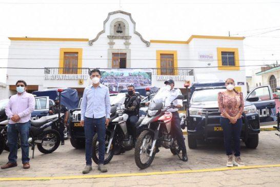 Fortalece Alejandro López Jarquín cuerpos policiacos de Xoxocotlán