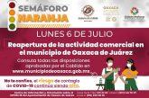 Aprueba Cabildo de Oaxaca de Juárez reapertura de la actividad comercial con medidas sanitarias estrictas