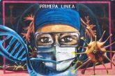 """Reconocen a trabajadores del sector salud de Oaxaca con mural: """"La Primera Línea"""""""