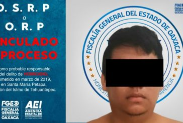 Logra Fiscalía de Oaxaca aprehender y vincular a proceso a octavo probable integrante de célula criminal, que operaba en Matías Romero