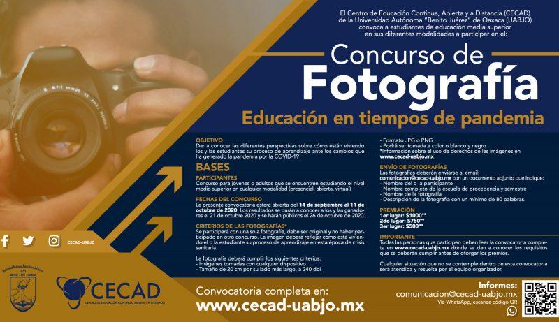 CECAD-UABJO abre concurso de fotografía para estudiantes de educación media superior