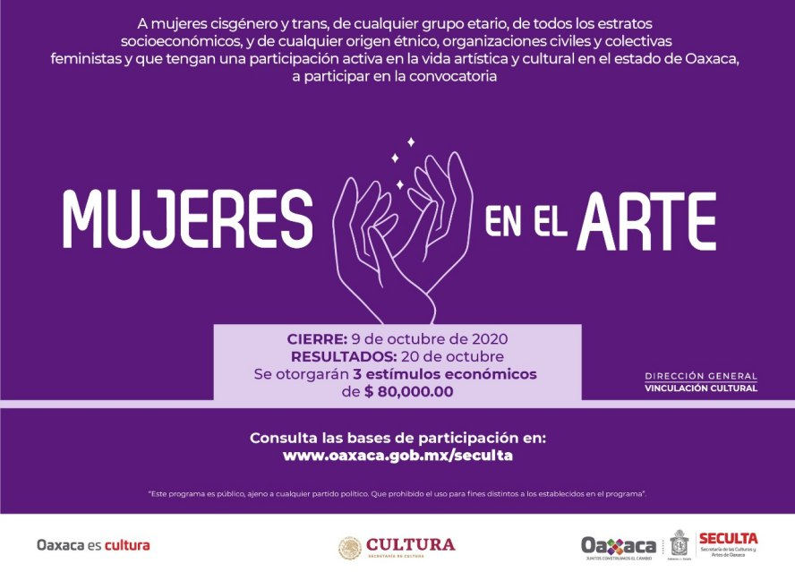 Impulsa Seculta tres nuevas convocatorias en apoyo al sector cultural y artístico