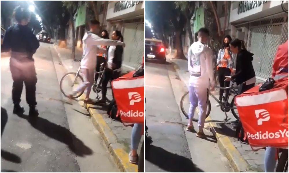 Roban bicicleta a repartidor de comida y clienta le regala la suya