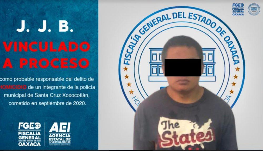 A la cárcel y vinculado a proceso probable asesino de policía municipal de Xoxocotlán: Fiscalía Oaxaca