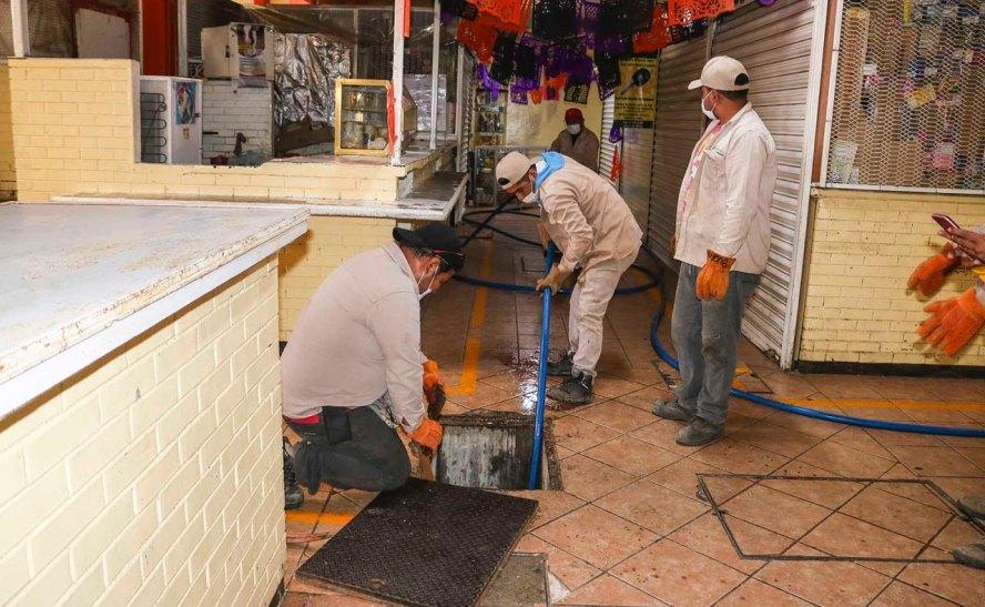 "Continúa SAPAO colaboración en programa de saneamiento ""Mercado Limpio"""