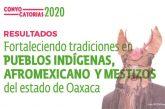 """Emite Seculta resultados de la convocatoria """"Fortaleciendo tradiciones de los pueblos indígenas, afromexicano y mestizos del estado de Oaxaca"""""""