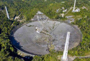 Se desploma el radiotelescopio Arecibo; se analizan daños