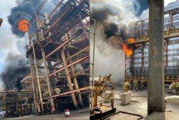 Otra explosión en Pemex: incendio en la refinería de Salina Cruz moviliza unidades de emergencia