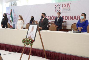 Diputados de Oaxaca rinden homenaje a Othón Cuevas Córdova